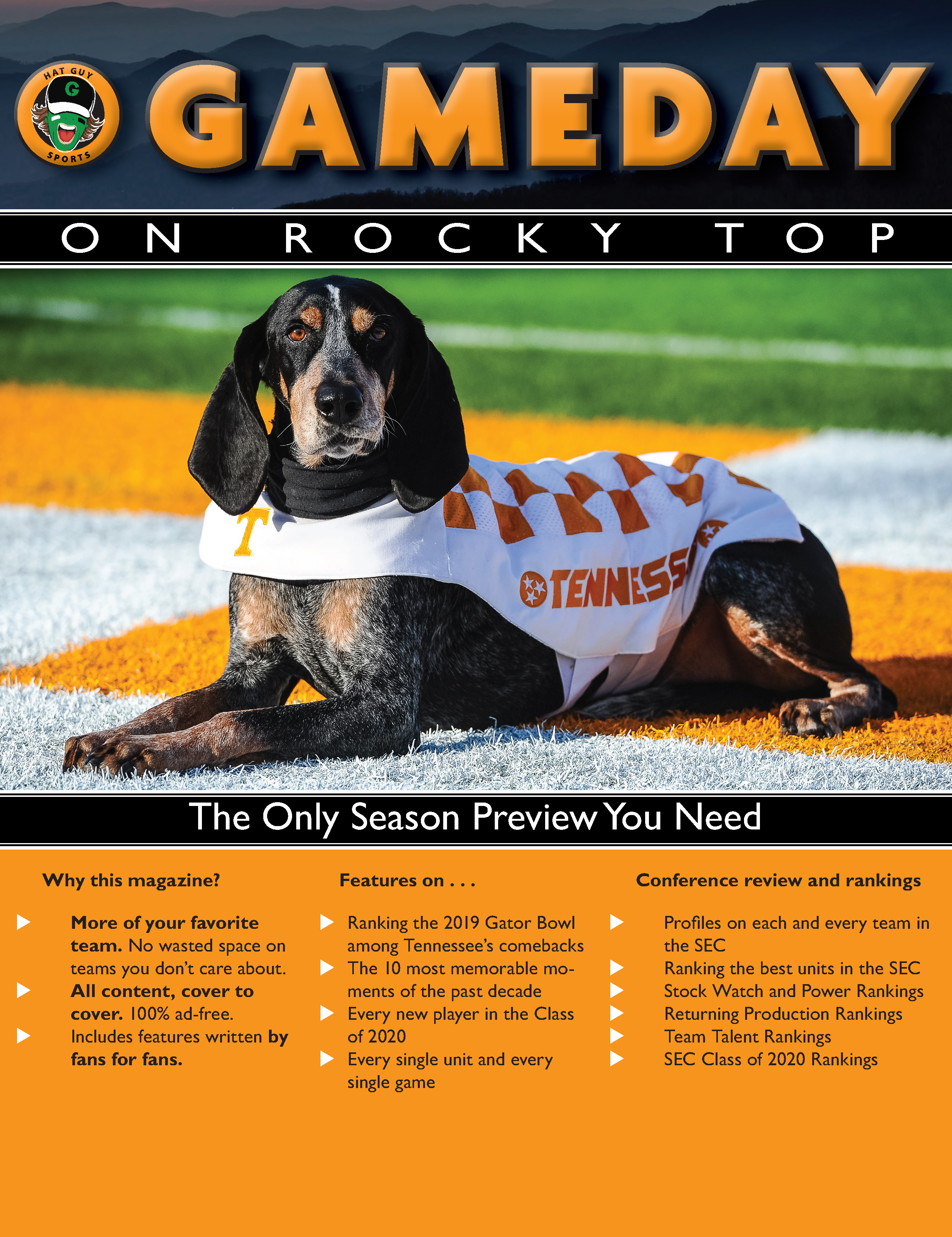 Gameday on Rocky Top 2020 College Football Preview Magazine back cover