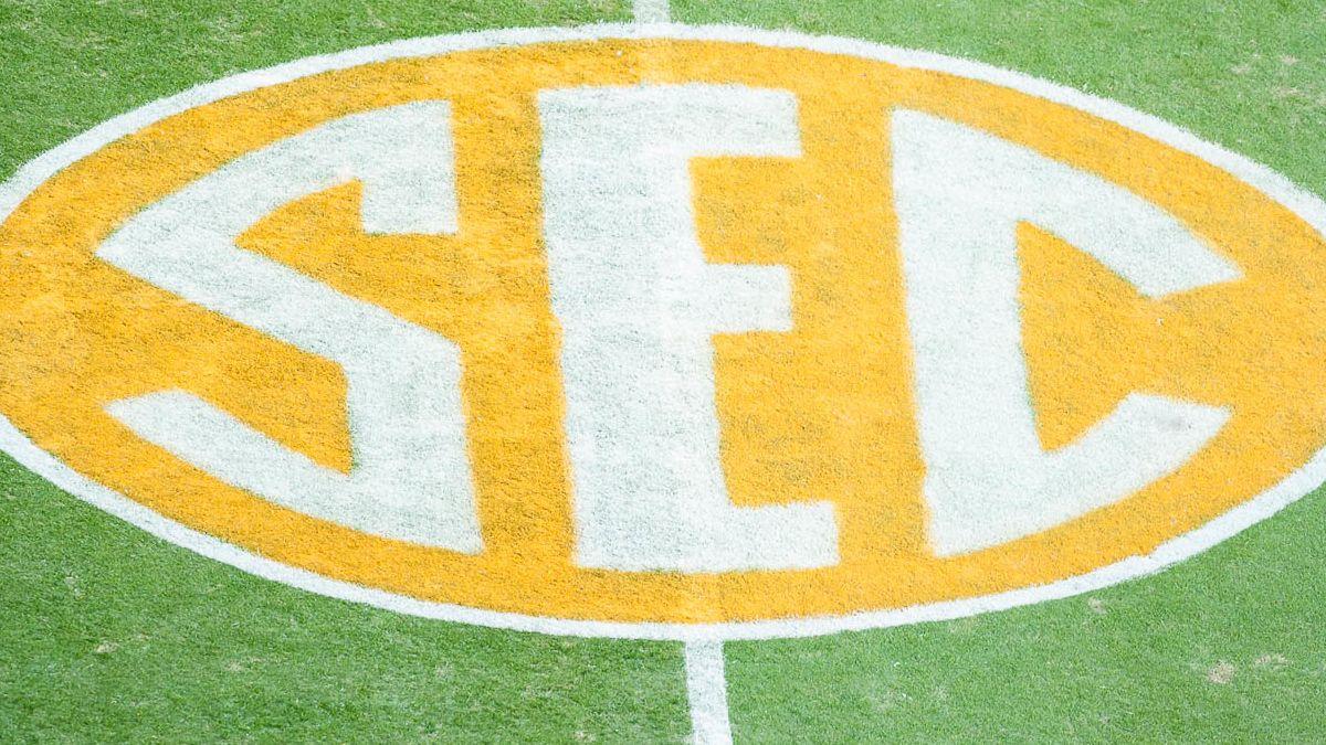 SEC logo on field - Tennessee