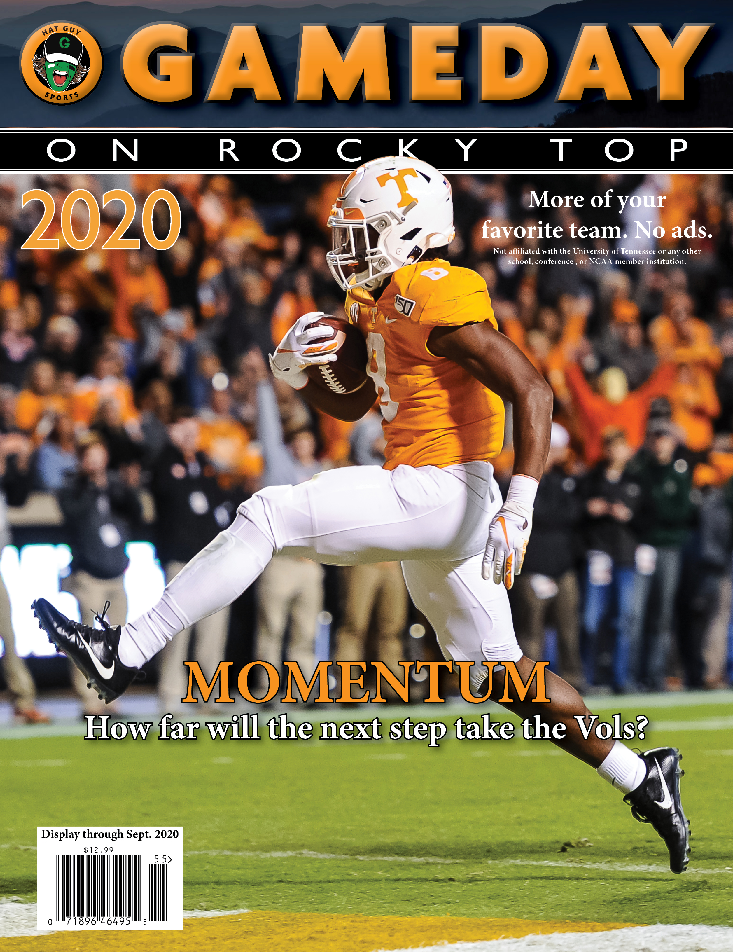Gameday on Rocky Top College Football Preseason Magazine front cover